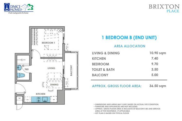 1 Bedroom B End