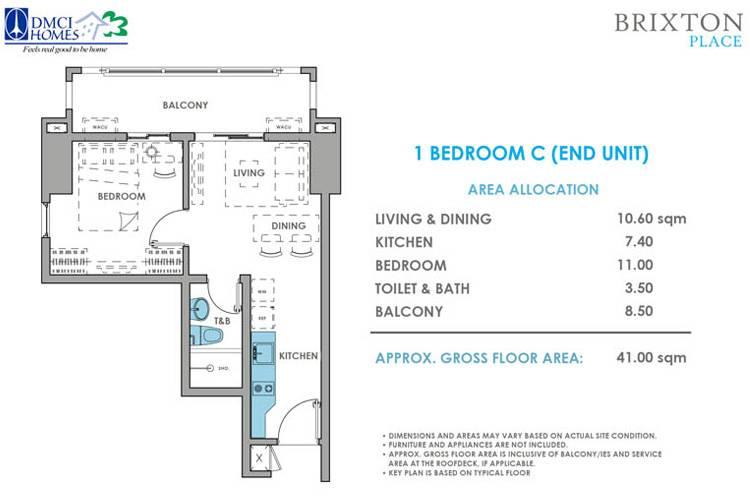 1 Bedroom C End
