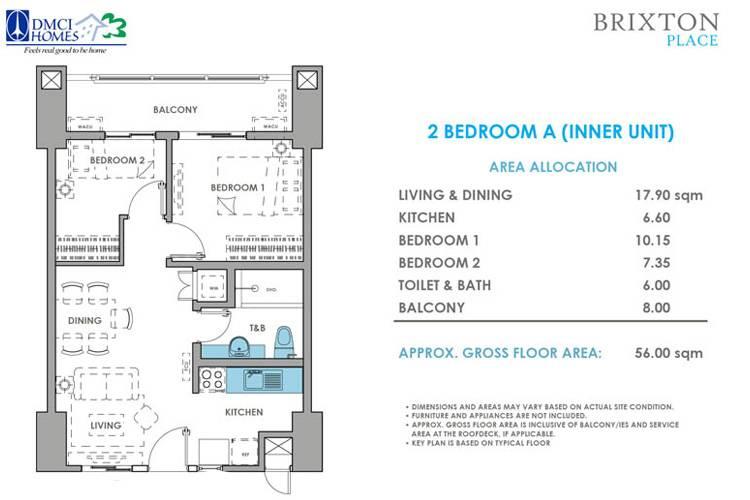 2 Bedroom A Inner