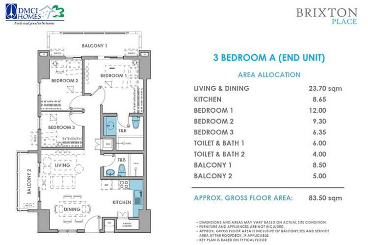 3 Bedroom End