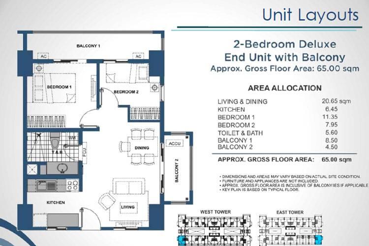 2 Bedroom End Deluxe