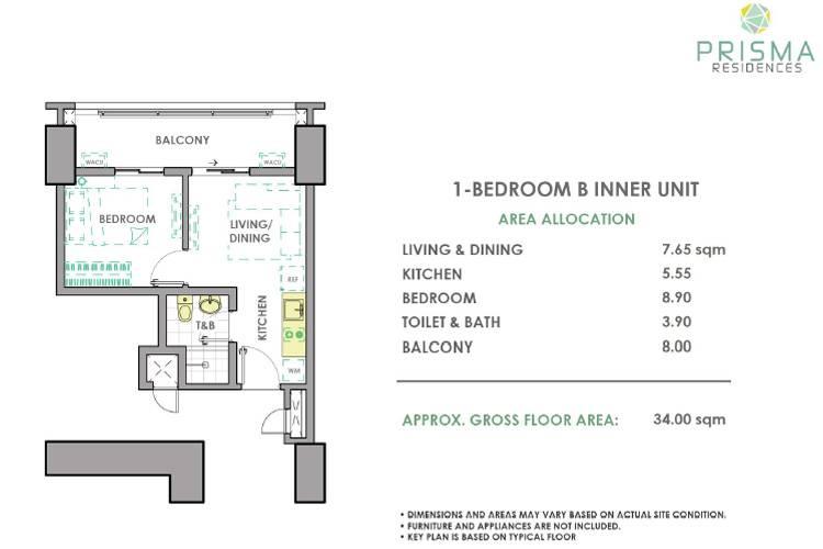 1 Bedroom Inner B