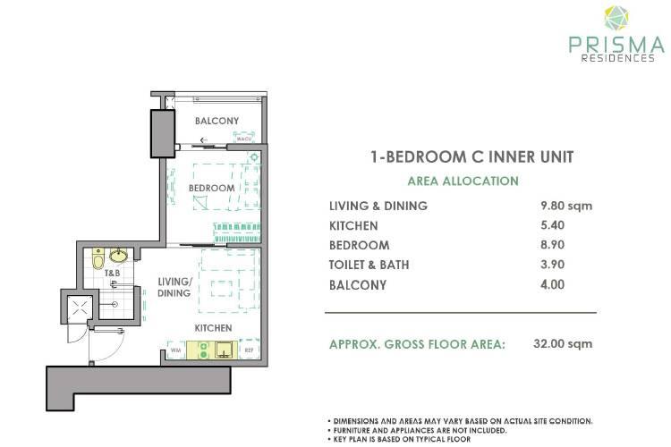 1 Bedroom Inner C
