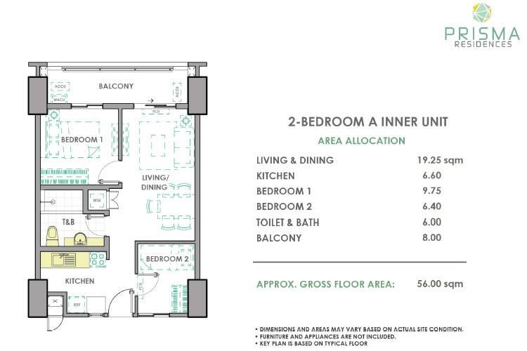 2 Bedroom Inner A