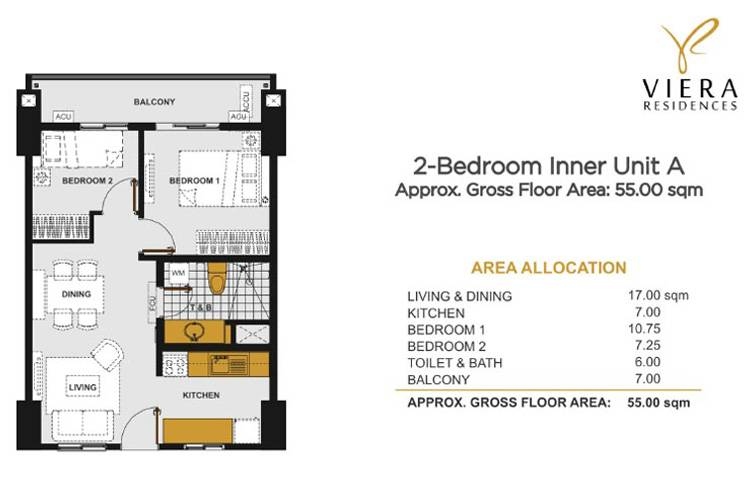 2 Bedroom A (Inner Unit)