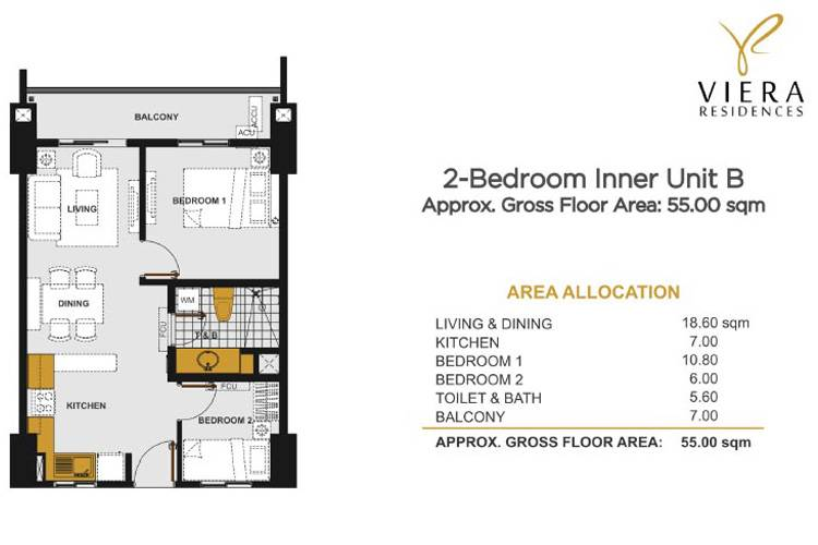 2 Bedroom B (Inner Unit)