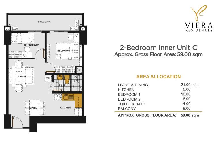 2 Bedroom C (Inner Unit)