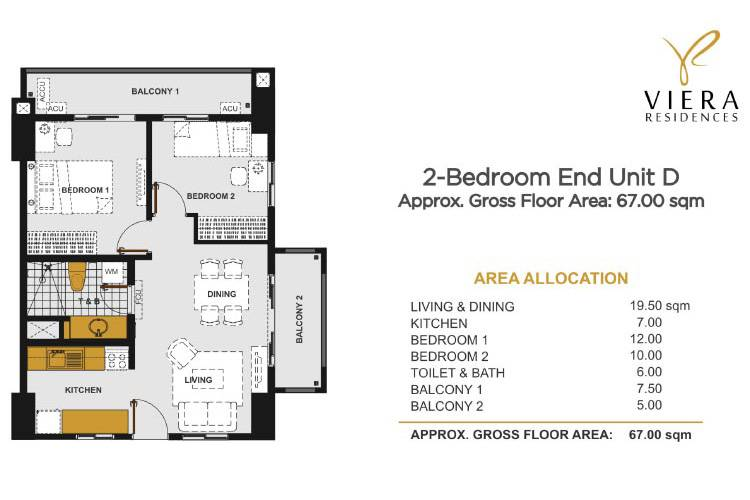 2 Bedroom D (End Unit)