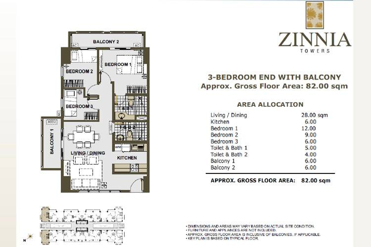 3 Bedroom End
